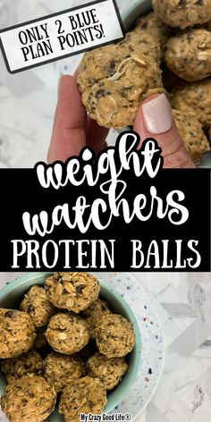 These protein balls are so delicious and easy to make! Made with REAL ingredients, this healthy snack is one your whole family will love! This recipe is Weight Watchers friendly, with only 2 Blue Plan Points per serving! Low Carb Protein, Protein Bites, Healthy Protein Balls, Ww Recipes, Free Recipes, Chicken Recipes, Recipies, Snack Recipes, Dinner Recipes