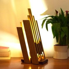 solid wood lighting LED lamp: BETARO by woodlampdesign on Etsy