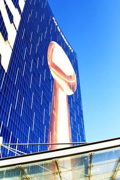 Super-sized Lombardi Trophy. Featured on the JW Marriott hotel during Super Bowl 46.