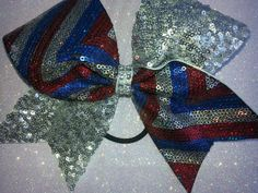Check out this item in my Etsy shop https://www.etsy.com/listing/219628312/red-white-blue-chevron-sequin-silver