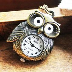 Owl Pocket Watch - Copper Copper - One Size