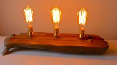 Use a great piece of driftwood and some classy Edison bulbs to create a one of a kind driftwood lamp.