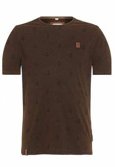 NAKETANO Bumsebumse T Shirt für Herren Grau