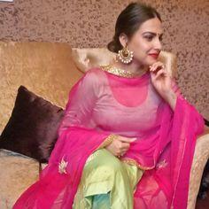 thank u so much for dis outfit @saheeba.chatak Designer Punjabi Suits, Indian Designer Wear, Patiyala Suit, Punjabi Models, Punjabi Actress, High Fashion Models, Indian Colours, Embroidery Suits Design, Kurti Designs Party Wear