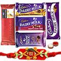 Mesmerizing Gift of Chocolaty Packs of Cadbury Dairy Milk Chocolates such as Silk, Crackle, Temptation, Fruits N Nuts and Roast Almonds to Pune