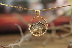 Large 14KY Gold Elk Signature Teton Cutout Pendant – Jackson Hole Jewelry Company