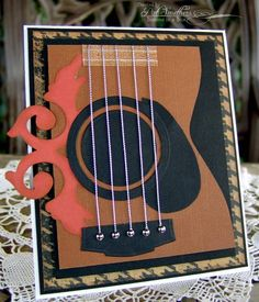 Birthday card for my oldest son, who shares my love of B.B. King and his soulful guitar playing. I cased this card by Linda (labullard), (who cased it from Cindy Canada.) Thank you so much for sharing your work here, and giving the inspiration! Here's some Lucille for you