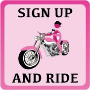 St. Augustine, FL - Oct. 11, 2014: Think Pink Motorcycle Ride: http://www.thinkpinkinoctober.com/