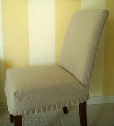 Slipcover Parson Chair Slipover with Knife by AppleCatDesigns