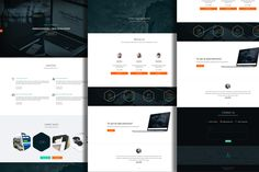 Check out PSD Template -onepage  portfolio by Marcoo on Creative Market