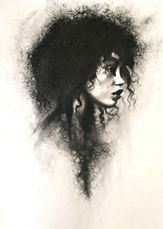 stoekenbroek:  Torn, Charcoal drawing on paper