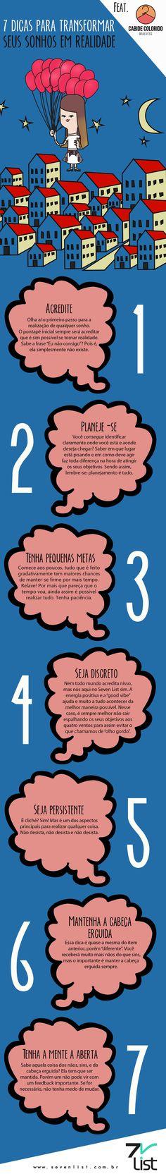 7 #dicas para transformar #sonhos em realidade