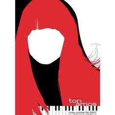 Tori Amos silkscreen printed poster poster Strawberryluna ❤ liked on Polyvore