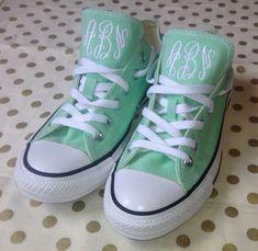 Mint shoe size 9 dark gray monogram