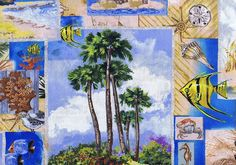 Tropical+Collage,+Wild+Palms+by+Wilmington+Prints+at+Creative+Quilt+Kits  Use Code- PINTEREST10 to receive 10% off your order at check out!!