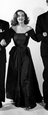 Bette Davis in dress designed by Edith Head for All About Eve.