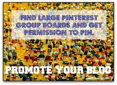 Promote your blog - Pinterest group boards