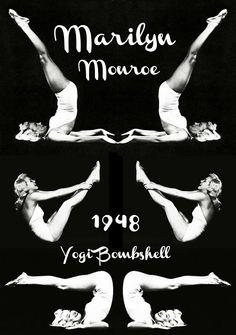 Krishnamacharya's Ashtanga Vinyasa Krama Yoga in León : Photo: Indra Devi teaching Marilyn Monroe Yoga 1960 ALSO Indra Devi in Mysore