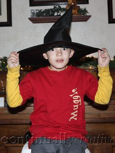 harry potter party - love her sorting hat idea!  ha!