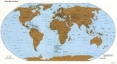 free desktop backgrounds for world map - world map category