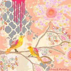 Caden Lane Baby Bedding - Sweet Peony Animals Wall Art, $119.00 (http://cadenlane.com/sweet-peony-animals-wall-art/)