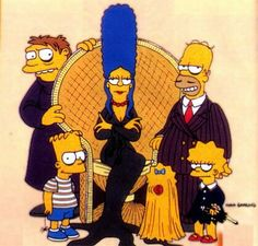 the simpsons television cartoon the addams family parody comics comic books Homer Simpson, Lisa Simpson, Futurama, The Addams Family, Adams Family, Family Guy, Famous Fictional Characters, Cartoon Characters, Comedy Cartoon