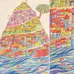"""""""Na jesienne i zimowe wieczory... #wyspy #anitagraboś #kolorowankidladorosłych"""""""