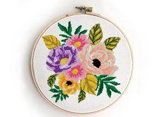 Cross Stitch Rose, Simple Cross Stitch, Cross Stitch Kits, Cross Stitching, Cross Stitch Embroidery, Embroidery Patterns, Stitching Patterns, Cross Stitch Tutorial, Easy Cross Stitch Patterns
