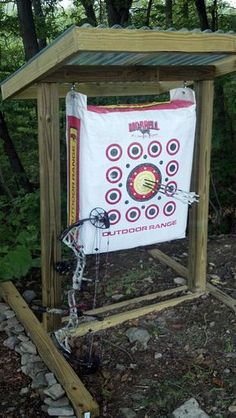 A permanent practice range can make your targets last longer and improve your shooting- build plan