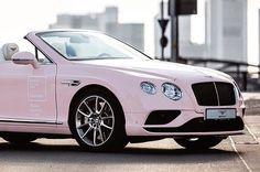 Pantone rose quartz Bentley. Dream car!