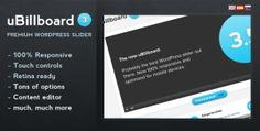 uBillboard - Premium Slider for WordPress Jquery Slider, Wordpress Slider, Wordpress Plugins, User Interface, Sliders, Cards Against Humanity, Consumer Electronics, Computers, Electronics