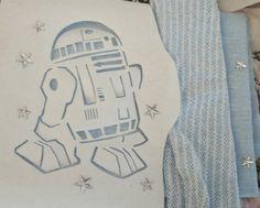 Star Wars R2D2 Stencil on Make Lovely