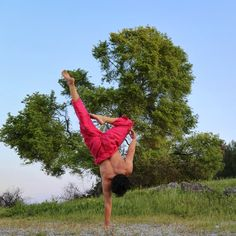 One arm handstand , tree pose