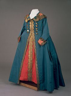 Catherine II's Uniform Dress Modelled after the Uniform of the Life-Guards Cavalry Regiment