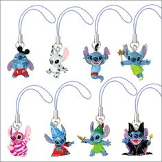 Stitch 'Disney Cosplay' charms (I want, the mickey, dalmatian, genie, cheshire cat, wizard, & the peter pan one)