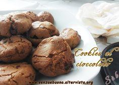 Cookies al cioccolato fondente senza glutine, senza burro, senza lieviti
