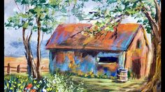 How to Paint a Forgotten Barn in the Acrylic Paints with Ginger Cook
