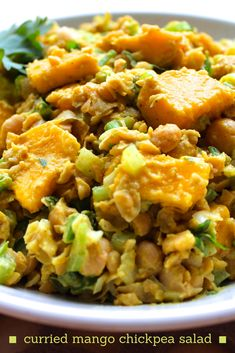 Curried Mango Chickpea Salad (vegan & gluten-free), might cut back on the curry