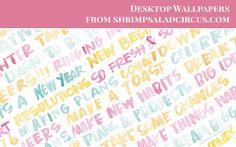 January Desktop Wallpaper . Freebies - Shrimp Salad Circus