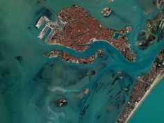 Every World Cup Country, Seen in Beautiful Images From Space | Italy -Group D | This image of Venice was taken by Digital Globe's Ikonos satellite in 2001.  Robert Simmon/NASA/Digital Globe