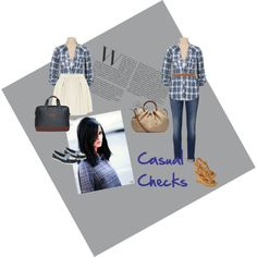"""""""Casual Checks"""" by lopez-cres on Polyvore"""