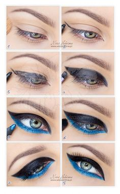 Jet Black Shadow and Blue Liner