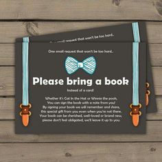 Bring a book instead of a card! Love this idea. Baby shower.                                                                                                                                                                                 More