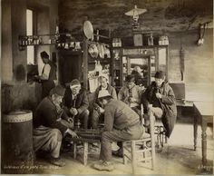 Turkey Ottoman Empire Constantinople Istanbul: Men in a coffeehouse- Photography from the Century- undated- Photographer: G. BerggrenVintage property of ullstein bild Get premium, high resolution news photos at Getty Images Pictures Of Turkeys, Old Pictures, Old Photos, Vintage Photos, Turkish Cafe, Ottoman Empire, Historical Pictures, Istanbul Turkey, History Books