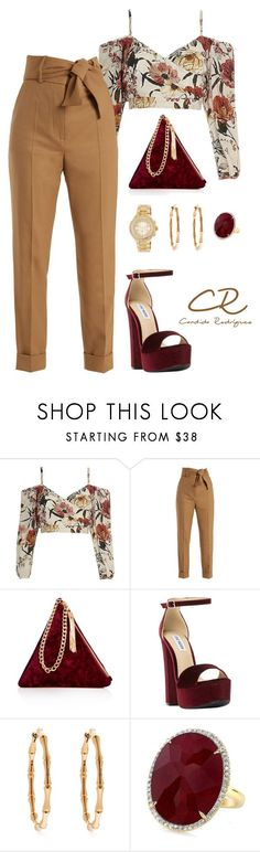 """Sin título #29"" by candida-rodriguez-alba ❤ liked on Polyvore featuring Sara Battaglia, Street Level, Steve Madden, Gucci and MICHAEL Michael Kors"
