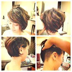 asymmetrical bob with undercut by Nancy Vu-Ha!