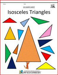 Isosceles triangles, 2d shapes