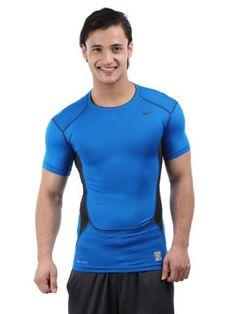 Nike Men Blue Hypercool Compression T-shirt   Myntra