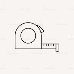 Trena linha ícone vetor e ilustração royalty-free royalty-free