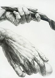 Drawing Sketches, Pencil Drawings, Medical Art, Ap Art, Drawing People, Anatomy, How To Draw Hands, Fine Art, Statue